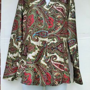 Talbots Women's Silk Long Sleeved Blouse 6
